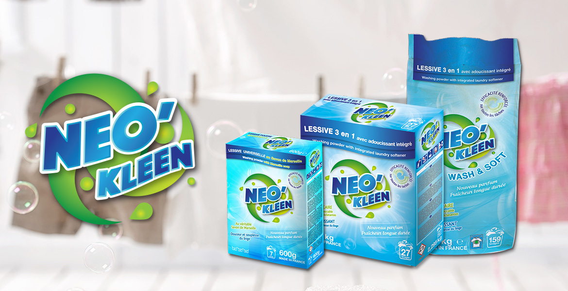 creation packaging logo charte graphique neo-kleen ecully