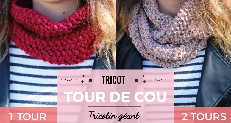 tour de cou snood diy tricotin géant