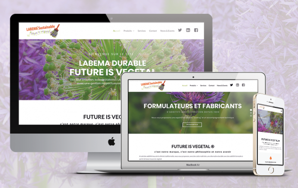 Site web LABEMA Future is vegetal