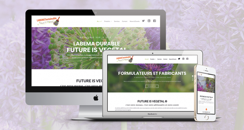 création site web future is vegetal wordpress labema graphiste freelance web