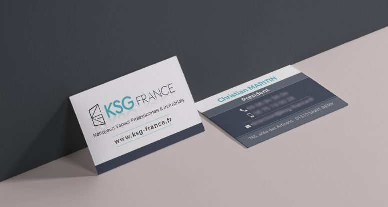 creation carte de visite ksg france graphiste freelance