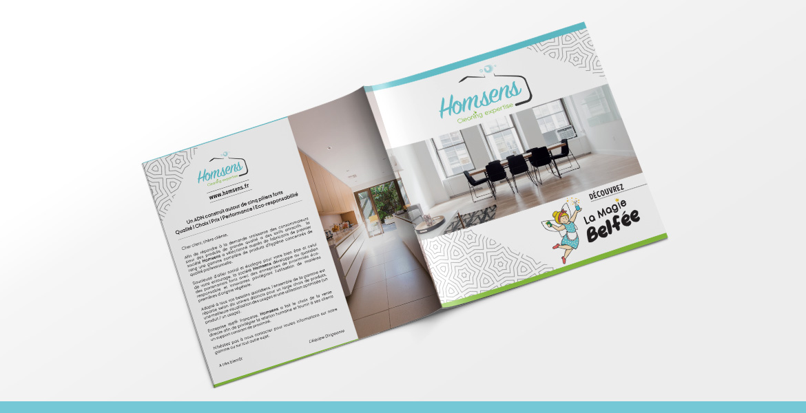 creation graphique brochure homsens