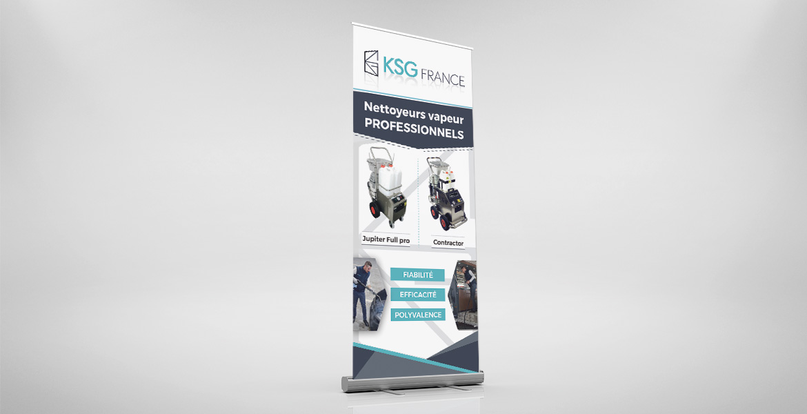 creation roll-up ksg france graphiste freelance