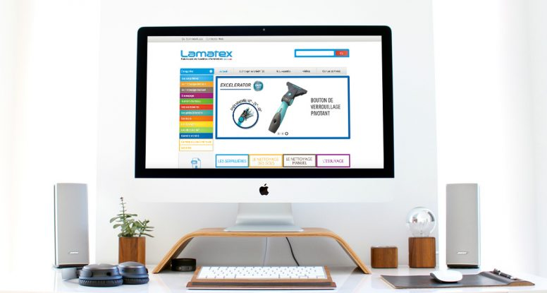 creation site web wordpress lamatex catalogue produits